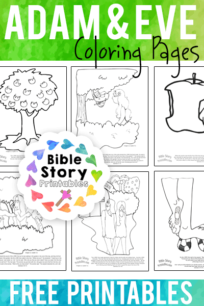 Adam & Eve Coloring Pages - Bible Story Printables