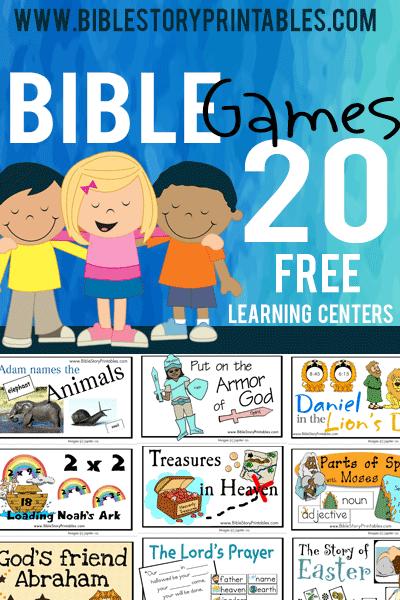 Bible Games: Bible File Folder Games