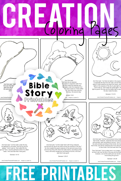 Creation Coloring Pages - Bible Story Printables