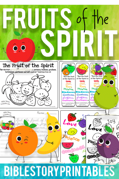 Fruit Of The Spirit Bible Printables - Bible Story Printables