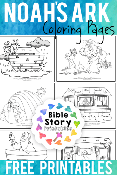 photograph about Noah's Ark Printable named Noahs Ark Bible Coloring Web pages
