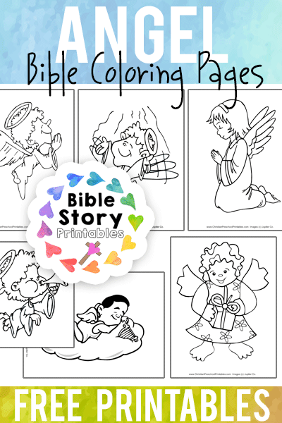 Angel Bible Coloring Pages - Bible Story Printables