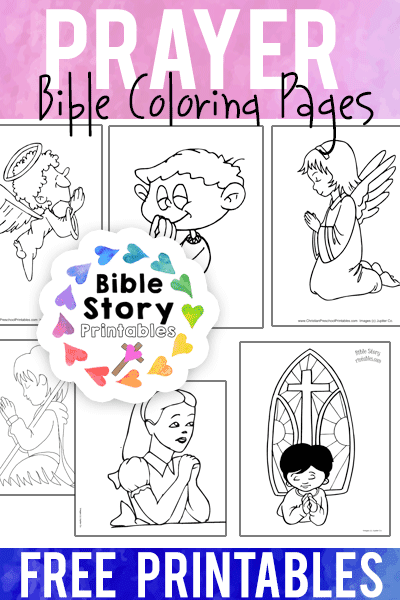 photograph about Free Printable Coloring Pages on Prayer referred to as Prayer Bible Coloring Web pages - Bible Tale Printables