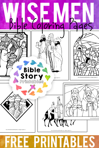 bible coloring pages wise men - photo#32