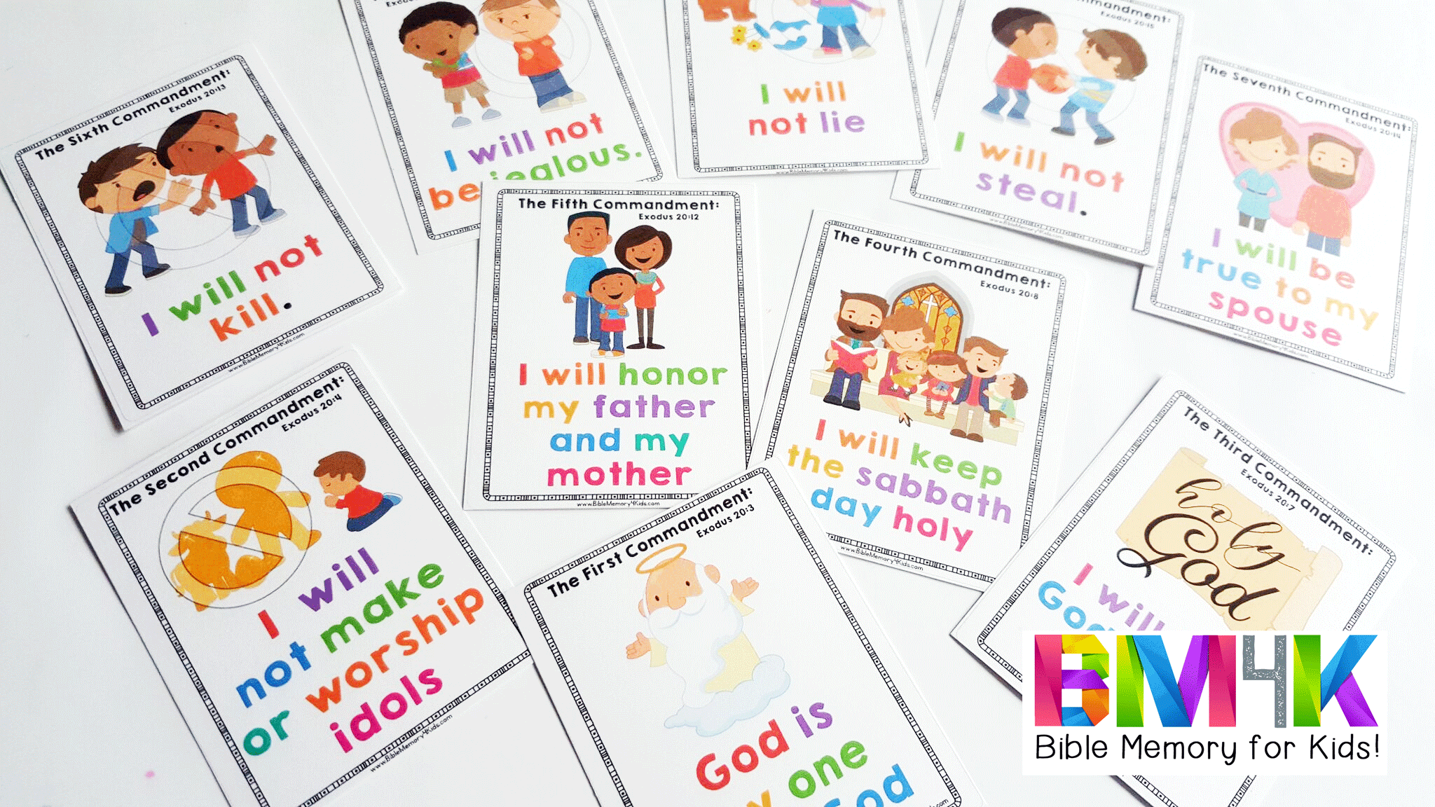 image about 10 Commandments for Kids Printable referred to as 10 Commandments for Little ones