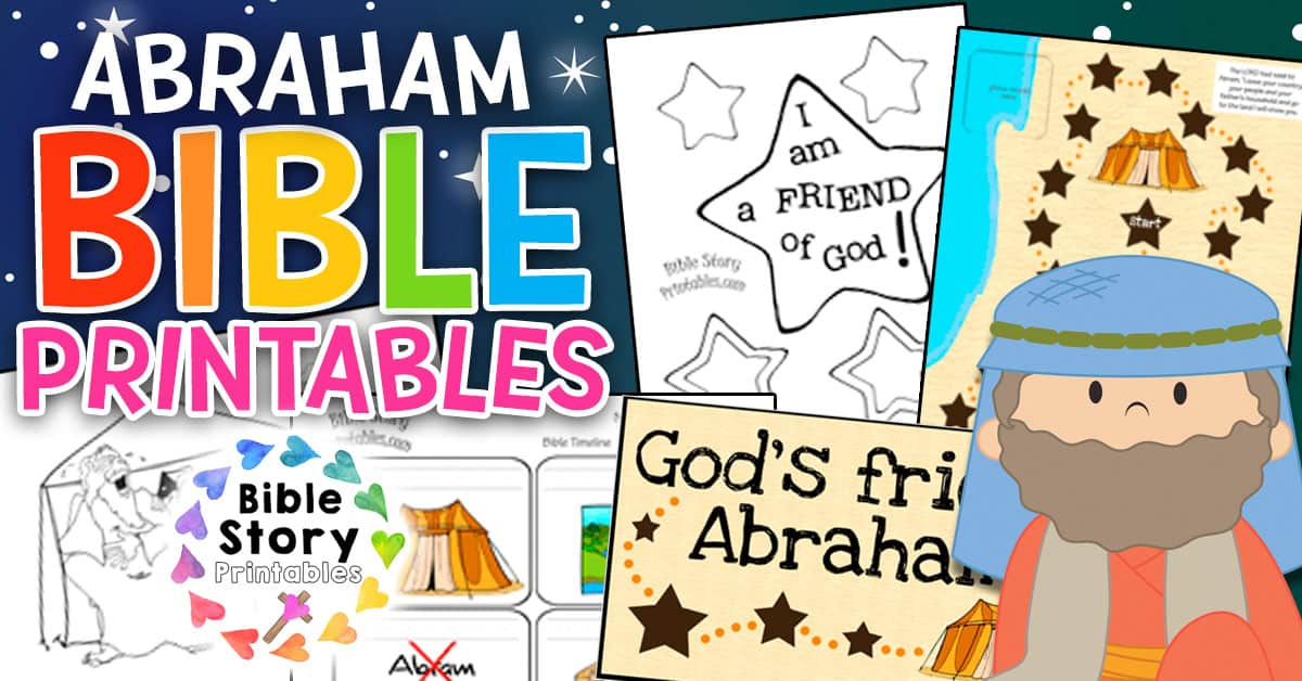 Abraham Bible Coloring Pages Bible Story Printables