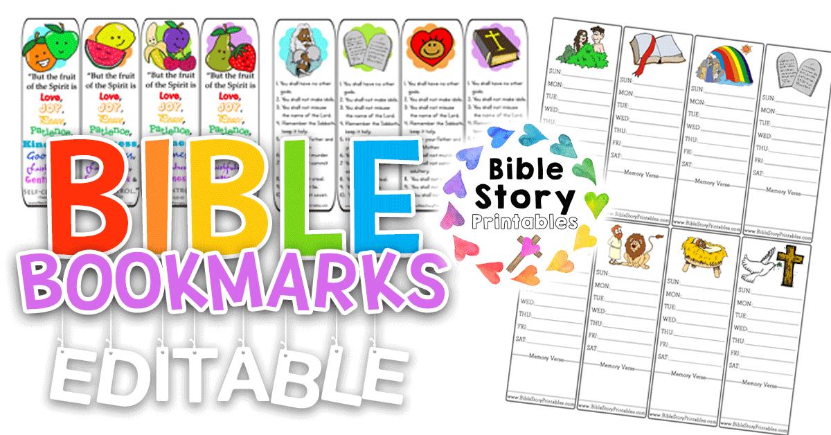 BibleBookmarks Bible Story Printables