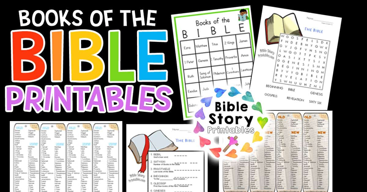 Books Of The Bible Printables - Bible Story Printables