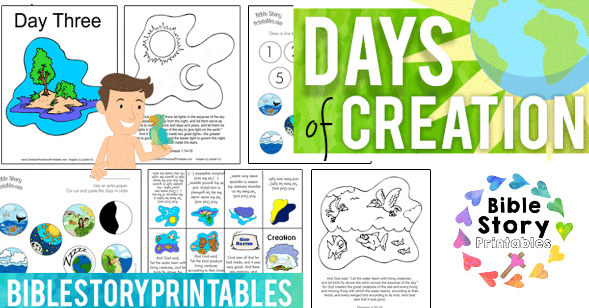Creation Bible Printables - Bible Story Printables