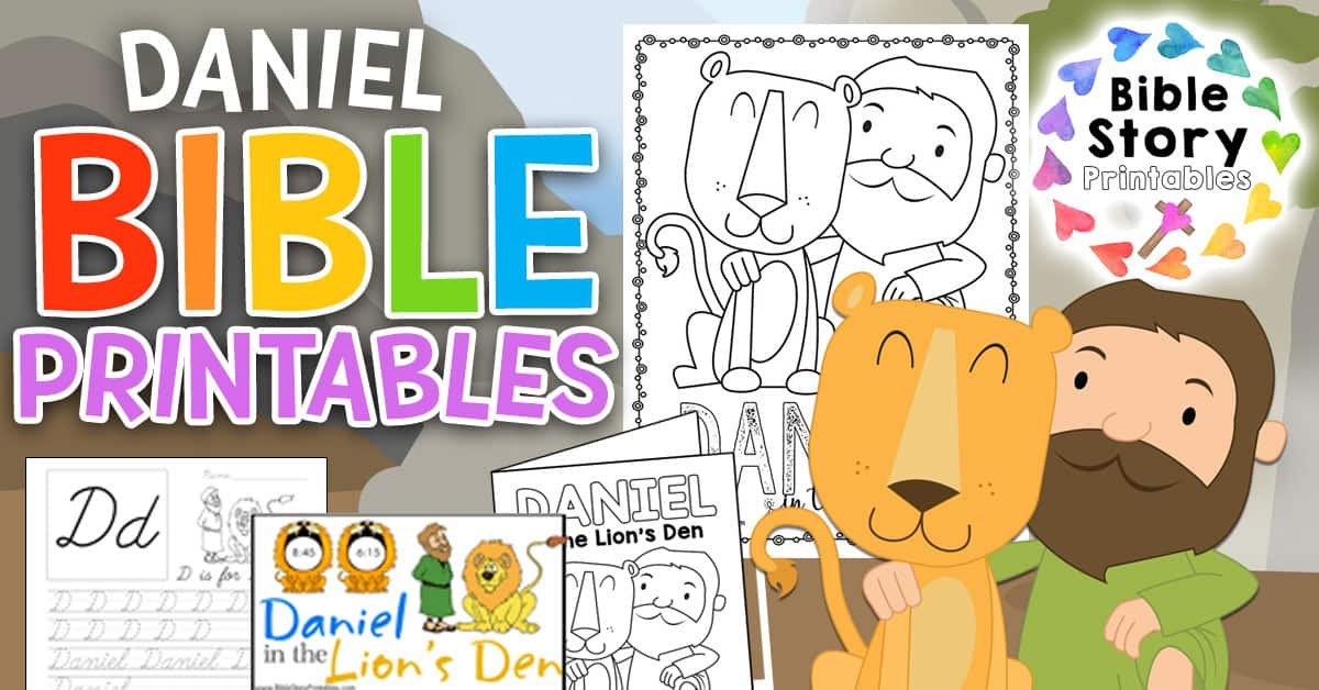 Daniel In The Lion's Den Bible Printables - Bible Story Printables