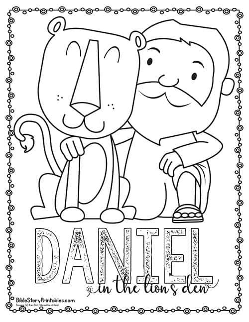 Daniel in the Lion's Den Bible Printables - Bible Story
