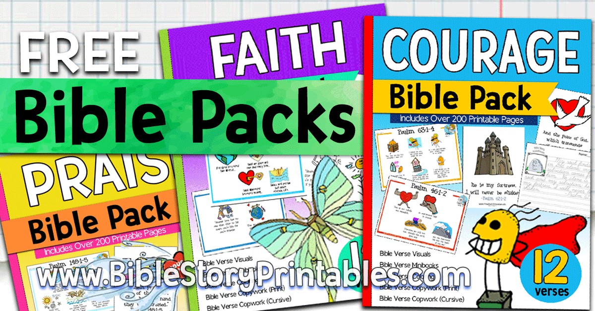 Free Bible Verse Printables for Kids! A Year of Verses