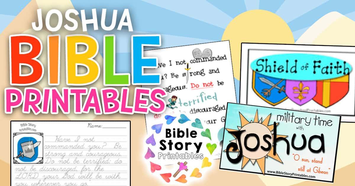 Joshua Bible Printables - Bible Story Printables