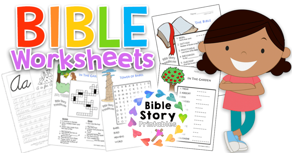 image about Free Printable Bible Study Lessons titled Bible Worksheets - Bible Tale Printables
