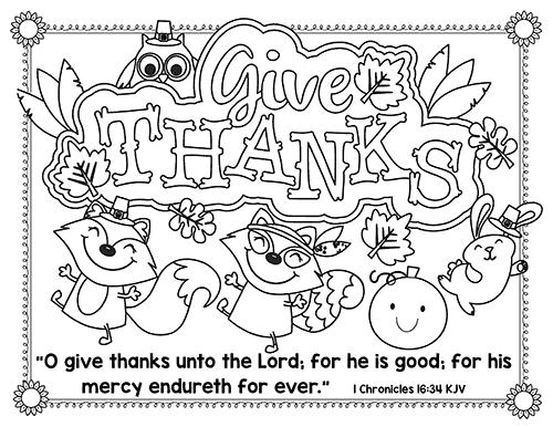 Thanksgiving Bible Printables - Bible Story Printables