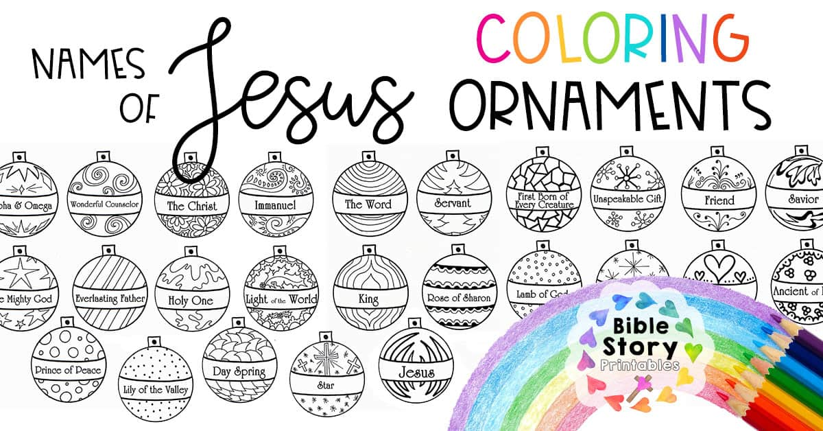 Names Of Jesus Advent Ornaments - Bible Story Printables